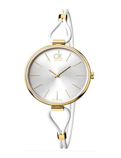 Relógio Calvin Klein Senhora Selection Branco e Dourado