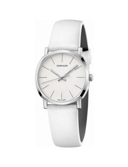 Relógio Calvin Klein  Senhora Prateado e Branco