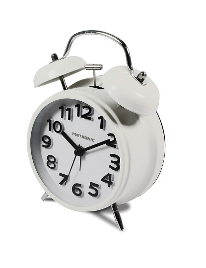 Despertador Analógico Vintage Branco