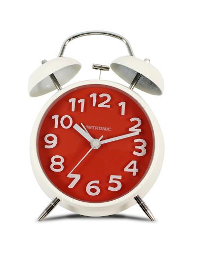 Despertador Analógico Vintage Vermelho