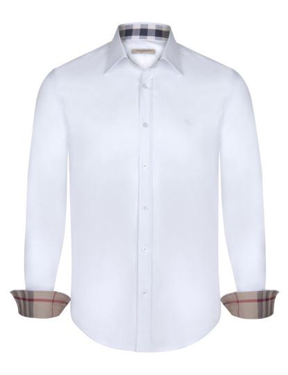 Camisa Burberry Homem Branca 2cfd485ab191a