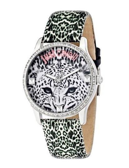 Relógio Just Cavalli Senhora Padrão Leopardo e Prateado