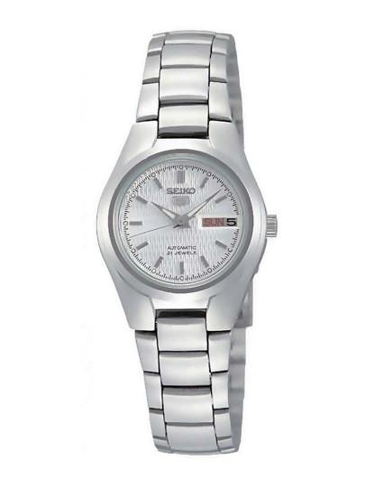 Relógio Seiko Classic Prateado e Branco Senhora