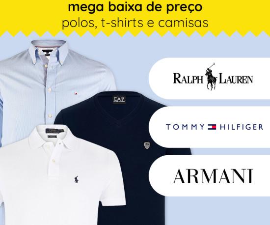 Especial Polos, T-shirts e Camisas Mega Baixa de Preço