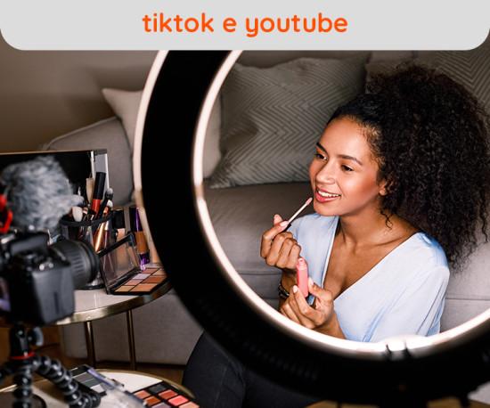 Tik Tok, Youtube - Ring Light