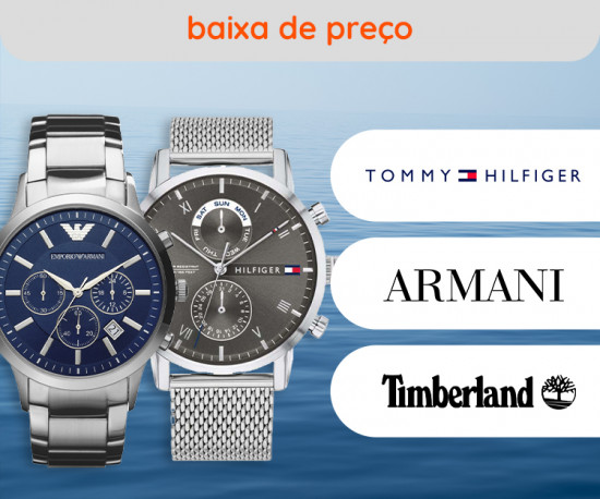 Tommy Hilfiger, Armani e Timberland Baixa de Preço