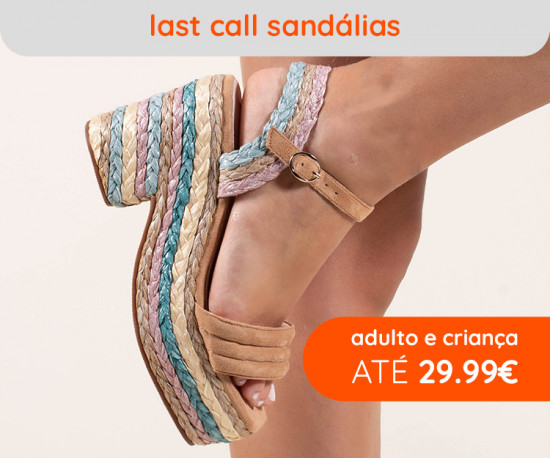 Last Call Sandálias até 29,99 €