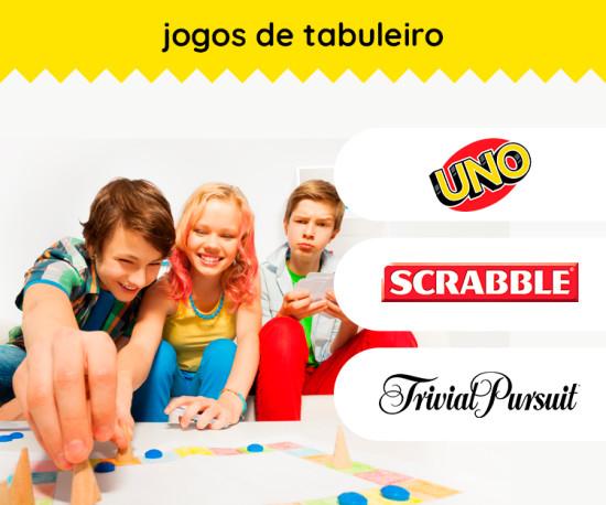 Jogos de Tabuleiro ( UNO, SCRABBLE, TRIVIAL)