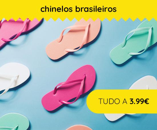 72H Chinelos Brasileiros TUDO A 3,99€