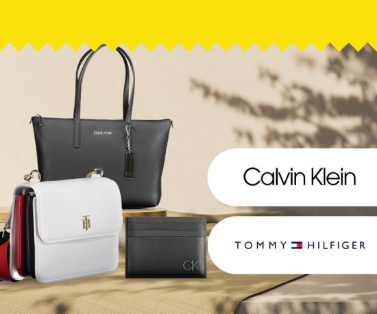 Calvin Klein e Tommy Hilfiger Malas e Acessórios