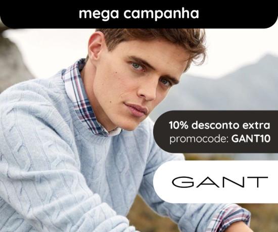 Gant Homem Mega Campanha +10% desconto