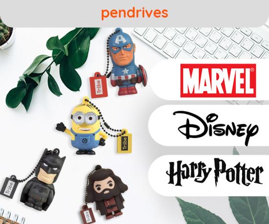 PenDrive Marvel, Disney, Harry Potter e muito mais!
