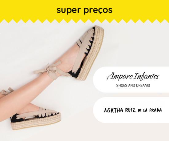 Agatha Ruiz de la Prada e Amparo Infantes e Super Preços