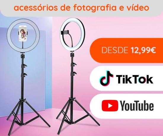 TikTok,Youtube !! Os melhores Ring Lights desde 12,99 Eur