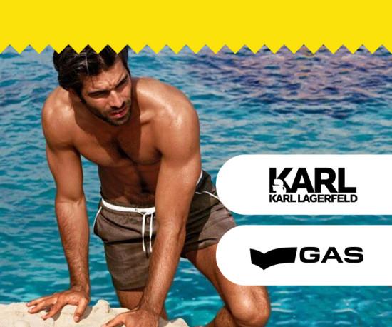 Karl Lagerfeld e Gas