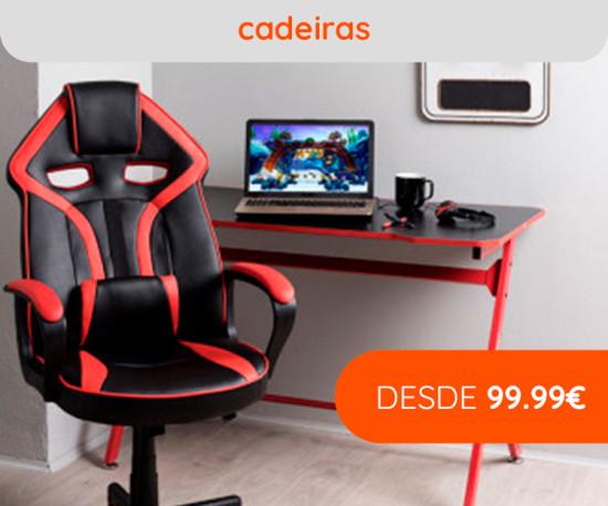 Cadeiras Gaming desde 99,99€