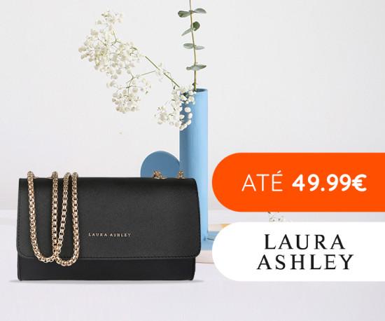 Laura Ashley bags tudo até 49.99