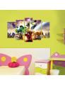 Pintura decorativa em MDF (5 Peças) 5MDFCO-13
