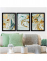 Pintura Decorativa C/ Moldura  WD Multicolor (3 Peças)