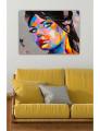 Pintura Tela Decorativa WD Multicolor