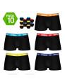 Pack 10 Boxers Umbro Preto com cós Multicolorido
