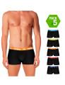 Pack 5 Boxers Umbro Preto com cós Multicolorido