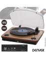 Gira Discos Vintage com Colunas Denver