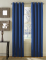 Conjunto 2 Cortinados Bicolor Argolas Inox azul