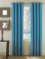 Conjunto 2 Cortinados Bicolor Argolas Inox azul turquesa