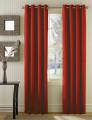 Conjunto 2 Cortinados Bicolor Argolas Inox vermelho