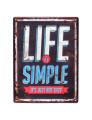 Placa Metálica Life simple