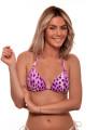 Top Bikini Leopardo Cia Maritima Roxo