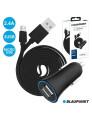 Carregador Blaupunkt Auto Duplo USB 2.4A com cabo