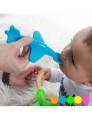 Colher de Aviãozinho para Bebé Azul