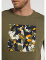 T-shirt Grafica Camuflagem Geométrico Bendorff Homem Verde
