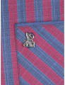 Camisa Giorgio di Mare Homem Azul Marinho e Vermelho